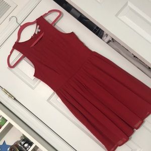 Red Delia's dress pleated